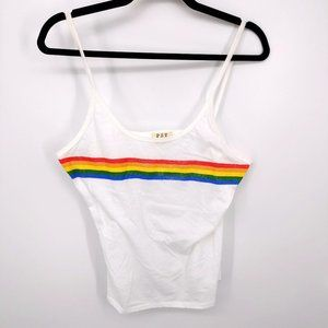 3 for $15 Project Social T Tank Top Rainbow Stripe